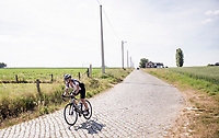 the cobbles up the Stationsberg in Maarkedal<br /> <br /> cycling hotspots & impressions in the Vlaamse Ardennen (Flemish Ardennes) along the 181km Spartacus (Chasing Cancellara) cycling route<br /> <br /> Cycling In Flanders <br /> Flanders Tourist Board<br /> <br /> ©kramon