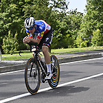 Rémi Cavagna (FRA) Deceuninck-Quick Step recons the course before Stage 21 of the 2021 Giro d'Italia, an individual time trial running 30.3km from Senago to Milan, Italy. 30th May 2021.  <br /> Picture: LaPresse/Fabio Ferrari   Cyclefile<br /> <br /> All photos usage must carry mandatory copyright credit (© Cyclefile   LaPresse/Fabio Ferrari)