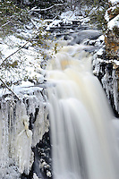 The beginning of the 50-foot Miners Falls located within Pictured Rocks National Lakeshore. Munising, MI