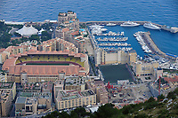 "View on the Principality of Monaco, Mediterranean Sea. The photo shows the Fontvielle harbour which is an extension on the sea. The ward is also the site of the soccer field ""Louis II"". Monaco is the second smallest country in the world after Vatican City. Monte Carlo is the principal residential and resort area with the casino in the east and northeast. Monaco-Ville, the old city is on a rocky promontory known as Rock of Monaco. La Condamine is another ward with the second harbour: Port Nikolas Flores., Mediterranean Sea, Atlantic Ocean"