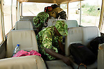 National Park guards looking for illegal bushmeat in vehicle, Lope National Park, Gabon