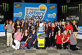 NASCAR Camping World Truck Series<br /> North Carolina Education Lottery 200<br /> Charlotte Motor Speedway, Concord, NC USA<br /> Friday 19 May 2017<br /> Kyle Busch, Cessna Toyota Tundra celebrates his win in Victory Lane<br /> World Copyright: Nigel Kinrade<br /> LAT Images<br /> <br /> ref: Digital Image _DSC7369