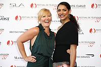 Monte-Carlo, Monaco, 16/06/2017 - 57th Monte-Carlo Television Festival Opening Ceremony Red Carpet. Kelli Giddish, Miranda Rae Mayo. # 57EME FESTIVAL DE LA TELEVISION DE MONTE-CARLO - RED CARPET OUVERTURE