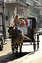 Olivia Thompson, Haley Kassle and Claire Fleischer of Chicago take a carriage tour through the French Quarter, Monday, January, 2, 2006.<br />(AP Photo/Cheryl Gerber)