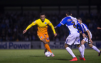 Aaron Holloway of Wycombe Wanderers in action during the Johnstone's Paint Trophy match between Bristol Rovers and Wycombe Wanderers at the Memorial Stadium, Bristol, England on 6 October 2015. Photo by Andy Rowland.