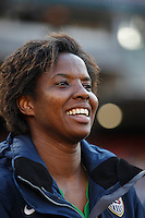 United States goalkeeper Briana Scurry (1). The women's national team of the United States defeated Canada 6-0 during an international friendly at Robert F. Kennedy Memorial Stadium in Washington, D. C., on May 10, 2008.