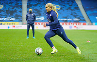 SOLNA, SWEDEN - APRIL 10: Lindsey Horan #9 of the United States warming up before a game between Sweden and USWNT at Friends Arena on April 10, 2021 in Solna, Sweden.