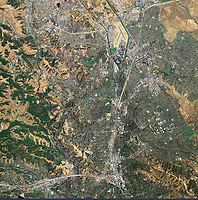 aeria photol map of Walnut Creek and Concord, California