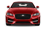 Car photography straight front view of a 2018 Jaguar XF 35t-R-Sport 4 Door Sedan Front View