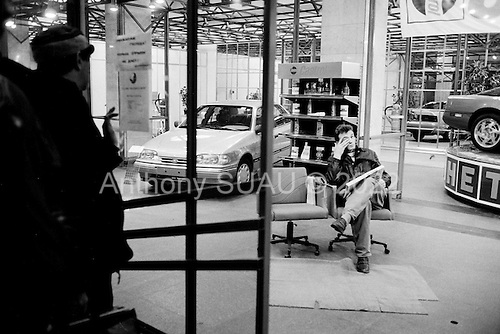 """Moscow, Russia<br /> Soviet Union<br /> August 1991<br /> <br /> A new Ford, American car dealership on Tverskaya, the main street in Moscow.<br /> <br /> In December 1991, food shortages in central Russia had prompted food rationing in the Moscow area for the first time since World War II. Amid steady collapse, Soviet President Gorbachev and his government continued to oppose rapid market reforms like Yavlinsky's """"500 Days"""" program. To break Gorbachev's opposition, Yeltsin decided to disband the USSR in accordance with the Treaty of the Union of 1922 and thereby remove Gorbachev and the Soviet government from power. The step was also enthusiastically supported by the governments of Ukraine and Belarus, which were parties of the Treaty of 1922 along with Russia.<br /> <br /> On December 21, 1991, representatives of all member republics except Georgia signed the Alma-Ata Protocol, in which they confirmed the dissolution of the Union. That same day, all former-Soviet republics agreed to join the CIS, with the exception of the three Baltic States."""