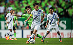 Endo of Gamba Osaka in action. Jeonbuk Hyundai Motors vs Gamba Osaka during the 2015 AFC Champions League Quarter-Final 1st Leg match on August 26, 2015 at the Jeonju World Cup Stadium, in Jeonju, Korea Republic. Photo by Xaume Olleros /  Power Sport Images