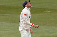 Daniel Lawrence of Essex receives a painful blow to the wrist during Essex CCC vs Durham CCC, LV Insurance County Championship Group 1 Cricket at The Cloudfm County Ground on 15th April 2021