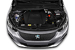 Car Stock 2020 Peugeot e-2008 GT 5 Door SUV Engine  high angle detail view