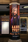 """Theatre Marquee with Aaron Tveit  for """"Moulin Rouge!"""" The Broadway Musical at the Al Hirschfeld Theatre on July 9, 2019 in New York City."""