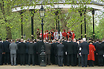 Combined Cavalry Old Comrades Association and parade Hyde Park London UK. The service at the Hyde Park Band Stand. 2012