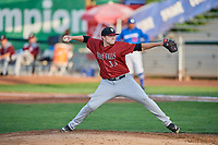 Idaho Falls Chukars starting pitcher C.J. Eldred (33) delivers a pitch during a game against the Ogden Raptors at Lindquist Field on August 29, 2018 in Ogden, Utah. Idaho Falls defeated Ogden 15-6. (Stephen Smith/Four Seam Images)