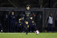 WINSTON-SALEM, NC - DECEMBER 01: Nico Belancazar #23 of Wake Forest University plays the ball during a game between Michigan and Wake Forest at W. Dennie Spry Stadium on December 01, 2019 in Winston-Salem, North Carolina.