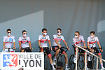 TOUR DE FRANCE 2020- UCI Cycling World Tour under Virus Outbreak. Stage 15th from Lyon to Grand Colombier on the 13th of September 2020, Lyon, France. Tadej Pogacar from Slovenia with Uae Team Emirates