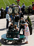 April 03, 2021: For the first time since the fall meet in 2019 fans are filling into the racetrack at Keeneland Racecourse in Lexington, KY on April 03, 2021.  Candice Chavez/ESW/CSM