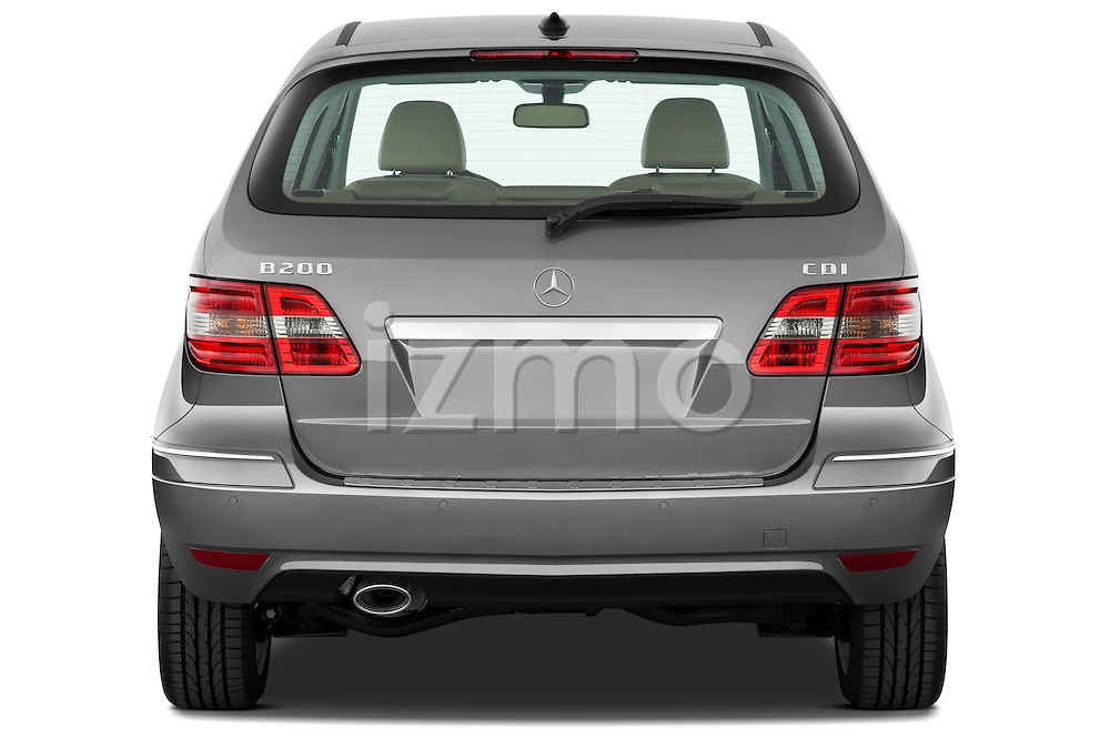 Straight rear view of a 2009 Mercedes B Class Sport Mini MPV