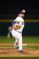 Buffalo Bisons relief pitcher Colt Hynes (14) during a game against the Norfolk Tides on July 18, 2016 at Coca-Cola Field in Buffalo, New York.  Norfolk defeated Buffalo 11-8.  (Mike Janes/Four Seam Images)