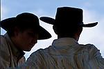 Cowboys converse, Jordan Valley Big Loop Rodeo, Ore..