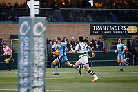 Tom Griffiths of London Scottish breaks for the line during the Greene King IPA Championship match between Ealing Trailfinders and London Scottish Football Club at Castle Bar , West Ealing , England  on 19 January 2019. Photo by Carlton Myrie/PRiME Media Images