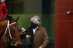 February 6, 2021: Trainer Steve Asmussen before the running of the King Cotton Stakes at Oaklawn Racing Casino Resort in Hot Springs, Arkansas. ©Justin Manning/Eclipse Sportswire/CSM