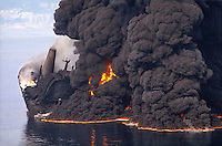 "- The 11 April 1990 the Haven oil-tanker, coming from the Kharg terminal in the Persian Gulf with a load of 220 thousand tons of ""iranian heavy oil"", catch fire in front of Genoa, and sink, killing some men of the crew and provoking most serious ecological accident of this type never happened in Italy. <br />