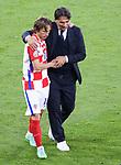 22.06.2021 Croatia v Scotland: Zlatko Dalic and Luka Modric