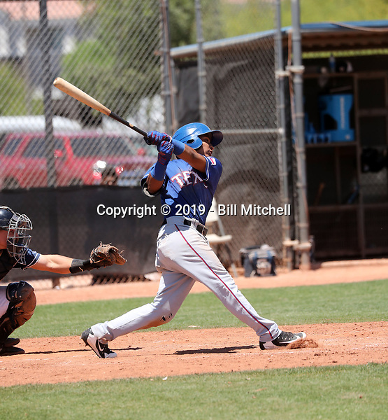 Derwin Barreto - Texas Rangers 2019 extended spring training (Bill Mitchell)