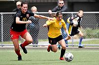 Michaela Robertson of Capital during the ISPS Handa Women's Premiership - Capital Football v Canterbury Utd Pride at Petone Memorial Park, Wellington on Saturday 5 December 2020.<br /> Copyright photo: Masanori Udagawa /  www.photosport.nz