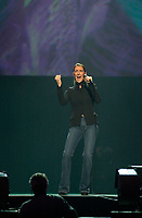 Montreal (QC) CANADA -Sept 29 2001 file photo -<br /> Quebec -New-York benefit concert at bell Centre, after 9-11 :