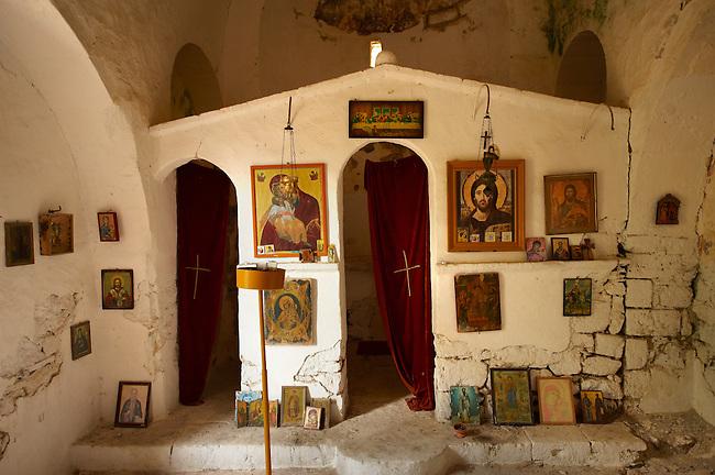 Interior of Ayios Ioannis, Paliachora,  Aegina, Greek Saronic Islands
