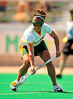 25 April 2009: University of Vermont Catamount defenseman/midfielder Annie Strout, a Senior from North Andover, MA, in action against the Stony Brook University Seawolves at Moulton Winder Field in Burlington, Vermont. The Lady Cats defeated the visiting Seawolves 19-11 on Seniors Day, Vermont's last home game of the 2009 season. Mandatory Photo Credit: Ed Wolfstein Photo