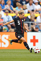 14 MAY 2011: USA Women's National Team midfielder Lindsay Tarpley (5) during the International Friendly soccer match between Japan WNT vs USA WNT at Crew Stadium in Columbus, Ohio.
