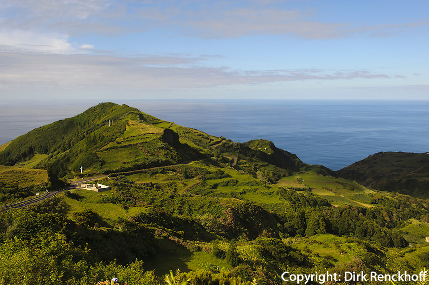 Tal von Lajedo auf der Insel Flores, Azoren, Portugal