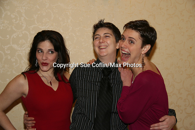 Elissa Goldstein - Jana Mattioli (director) - Candice Holdorf  are both in the new indie film An Affirmative Act! - a groundbreaking gay marriage courtroom drama on January 21, 2010 at the Marriott Saddle Brook, Saddle Brook, NJ. (Photo by Sue Coflin/Max Photos)
