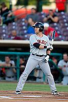 Brock Bond #37 of the San Jose Giants bats against the Inland Empire 66'ers at San Manuel Stadium on May 21, 2013 in San Bernardino, California. San Jose defeated Inland Empire, 8-0. (Larry Goren/Four Seam Images)