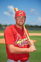 GCL Cardinals left fielder Walker Robbins (16) poses for a photo after the second game of a doubleheader against the GCL Marlins on August 13, 2016 at Roger Dean Complex in Jupiter, Florida.  GCL Cardinals defeated GCL Marlins 2-0.  (Mike Janes/Four Seam Images)
