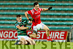 Diarmuid O'Connor, St. Brendan's Board in action against Paul Murphy, East Kerry during the Kerry County Senior Football Championship Semi-Final match between East Kerry and St Brendan's at Austin Stack Park in Tralee, Kerry.