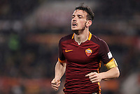 Calcio, Serie A: Roma vs Inter. Roma, stadio Olimpico, 19 marzo 2016.<br /> Roma's Alessandro Florenzi runs during the Italian Serie A football match between Roma and FC Inter at Rome's Olympic stadium, 19 March 2016. The game ended 1-1.<br /> UPDATE IMAGES PRESS/Isabella Bonotto