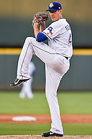 Round Rock Express pitcher Scott Richmond (48) during pacific coast league baseball game, Friday August 14, 2014 in Round Rock, Tex. Reno leads Round Rock 10-4 at the bottom of fifth inning in the last game of best of three series. (Mo Khursheed/TFV Media via AP Images)