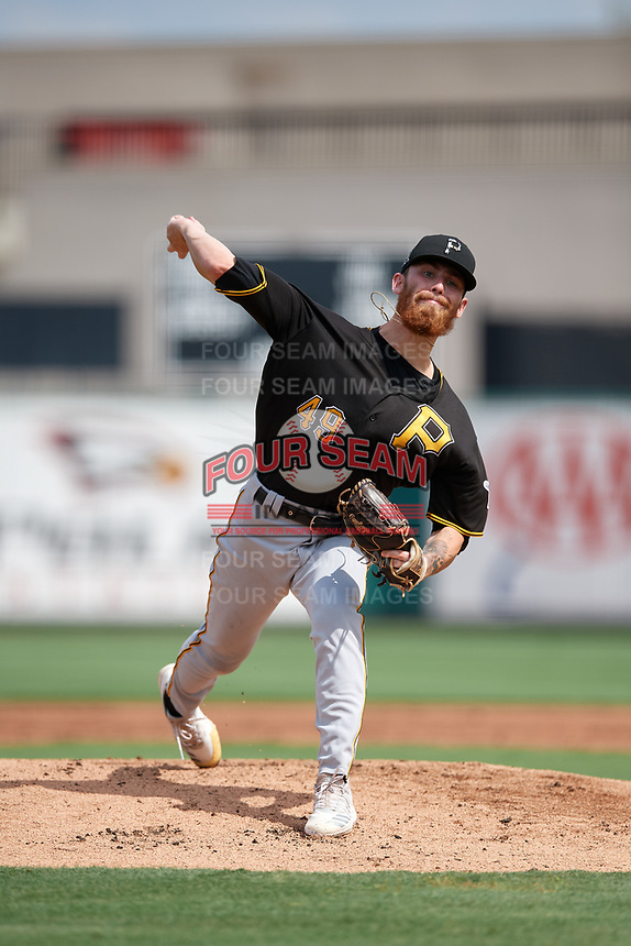 Pittsburgh Pirates pitcher Michael Burrows (49) during a Florida Instructional League game against the Detroit Tigers on October 16, 2020 at Joker Marchant Stadium in Lakeland, Florida.  (Mike Janes/Four Seam Images)