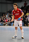 MANNHEIM, DEUTSCHLAND, FEBRUAR 01: Viertelfinale in der 1. Hockey Bundesliga der Herren, Hallensaison 2013/2014. Begegnung zwischen dem Mannheimer HC (blau) und RW Köln (rot) am 01. Februar, 2013 in der Irma-Röchling-Halle in Mannheim, Deutschland. Endstand 4-6. (4-1) (Photo by Dirk Markgraf / www.265-images.com) *** Local caption *** #2 Moritz Trompertz von RW Köln