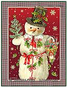 GIORDANO, CHRISTMAS SANTA, SNOWMAN, WEIHNACHTSMÄNNER, SCHNEEMÄNNER, PAPÁ NOEL, MUÑECOS DE NIEVE, paintings+++++,USGI1982M,#X#