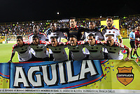 BOGOTA - COLOMBIA - 27-05-2015: Formacion del Independiente Medellin contra Deportes Tolima   , durante partido  por la semifinal ida  entre Deportes Tolima  e Independiente  Medellin  de la Liga Aguila I-2015, en el estadio Metroplitano de Techo  de la ciudad de Bogota. / Team of Independinete Medelin   against  Deportes Tolima  , during the first leg semifinal match between Deportes Tolima and Independiente Medellin of Aguila League I-2015, play match in the Metropolitano de Techo Stadium  in Bogota city, Photo: VizzorImage / Felipe Caicedo / Staff.