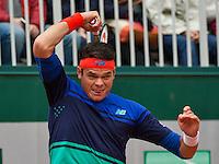 Paris, France, 23 june, 2016, Tennis, Roland Garros, Milos Raonic (CAN) <br /> Photo: Henk Koster/tennisimages.com