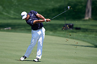5th June 2021; Dublin, Ohio, USA;  Hideki Matsuyama (Japan) hits a fairway shot as he approaches the 2nd green during the third round of the Memorial Tournament at Muirfield Village Golf Club in Dublin, Ohio on June 05, 2021.