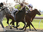 Spanish Empiress and Julien Leparoux win the 5th race at Keeneland. October 29, 2011.